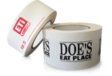view options for custom printed flat back tape