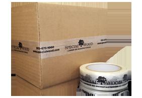 view options for custom logo printed filament tape